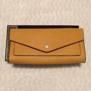 Steve Madden mustard flap over wallet